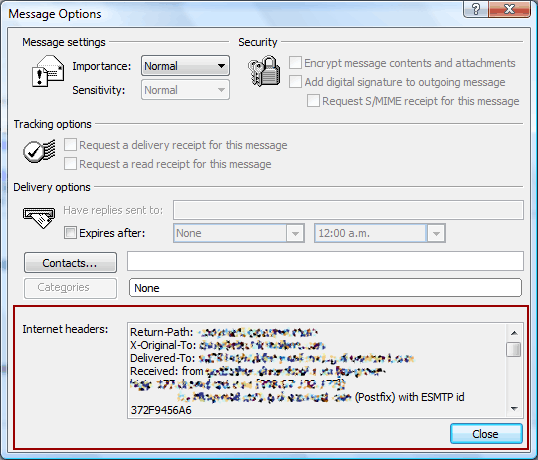 header outlook 2007